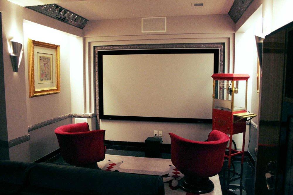 Private Movie Theatre Remodel and Design