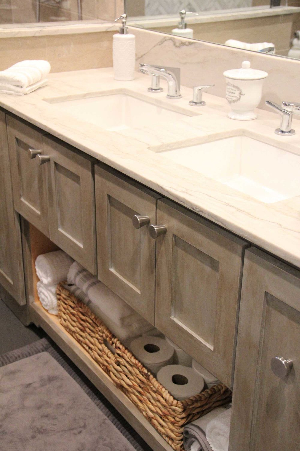 Custom Built Bathroom Sink and Cabinet