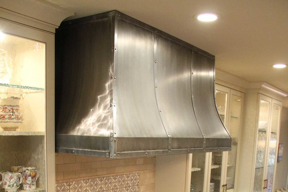Custom Built Steel Kitchen Hood
