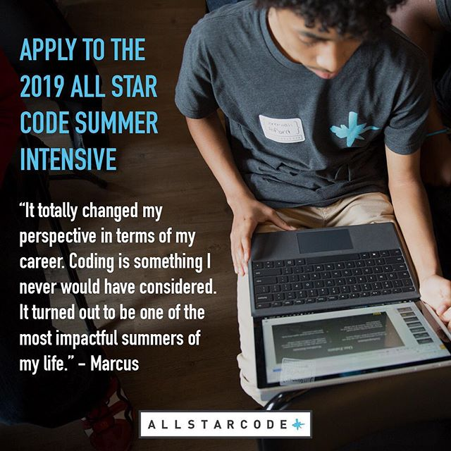 Always wanted to learn how to code? Take the plunge. December applications are open now to the free All Star Code Summer Intensive. Sign up now!