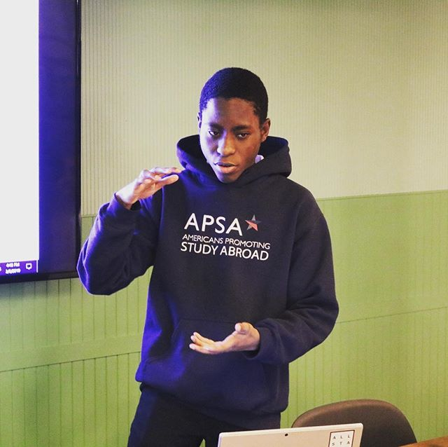 At our #allstarcodespring Celebration on 3/14, ASC Scholar Demola Ogunnaike will be pitching his project Afar, a one-stop shop for your school year abroad--from program listings to coffee shop recommendations to how to fund your trip. Come see him & our other All Stars Scholars in action! Ticket link in the bio.