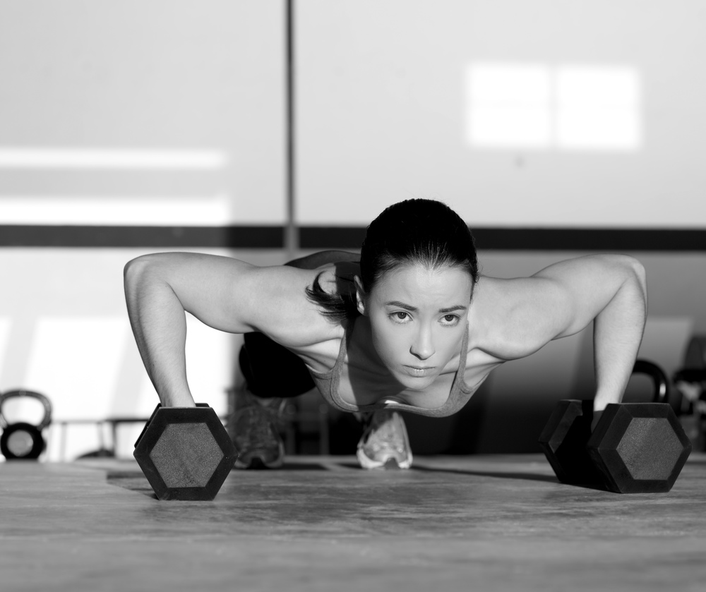 Pushups with Dumbells