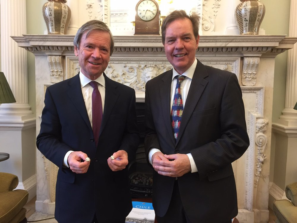London City Cufflinks - Lord Mayor - Dutch Ambassador - Simon Smits
