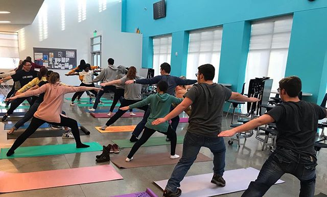Life can be overwhelming when we're busy with work and school. Our FIND students took an hour to understand mindfulness and self care through yoga. It was amazing and much needed! Thank you @yogasunne 🧘🏽‍♀️🧘🏼‍♂️ . . #selfcare #yoga #futureindesign #itineris #utah #westjordan #yogasunne #design #coding #find