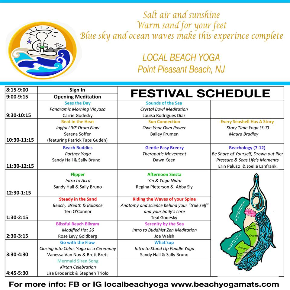 Local Beach Yoga Schedule