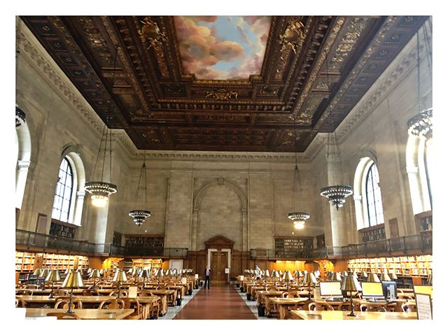 I used to close down union pool, but now I'm closing down @nypl & i feel way cooler ✌🏼#NYPL