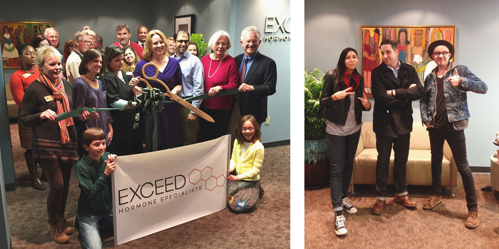 Exceed Hormone Specialists Ribbon Cutting - Kitbash Brand Design