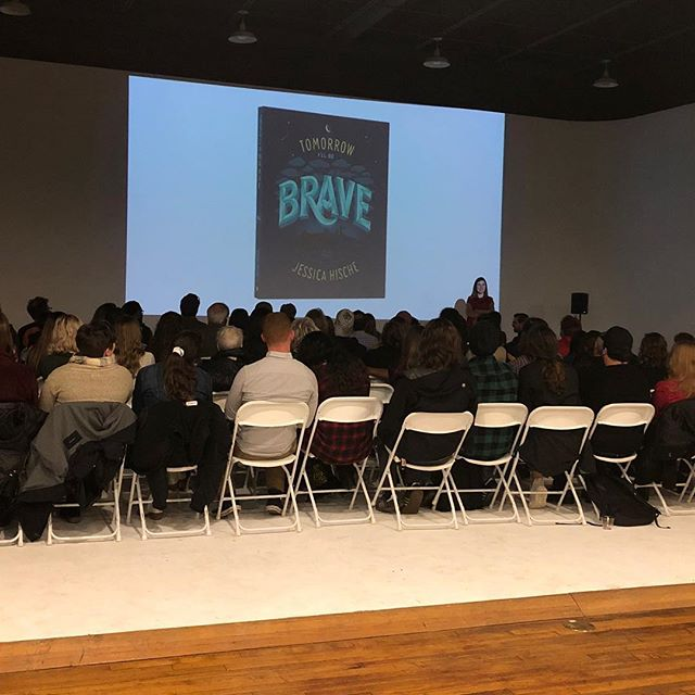 Enjoyed listening to @jessicahische talk about her new book last night. I think I'll snuggle my little nephew or niece and read it to them.  Thanks to @creativeworks.co for bringing her to Memphis! -Kay  #tomorrowillbebrave #choose901