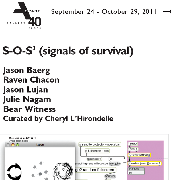 S-O-S3 (signals of survival), 2011