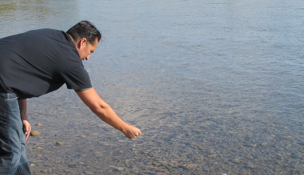 Adrian Stimson,  Nih duuk koo pii/The Real Water , performance. Image courtesy of the artist