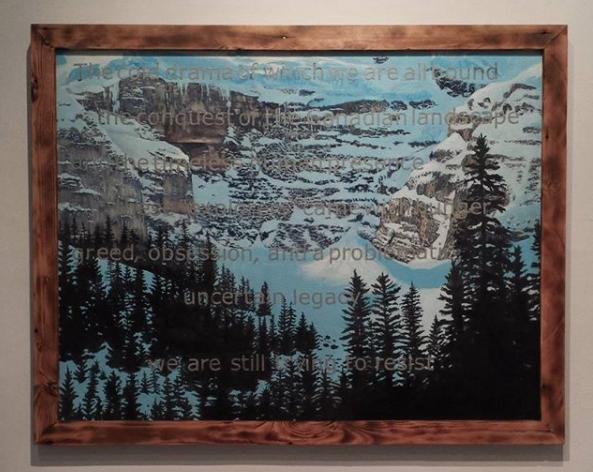 Alberta Rose W.,  Reclaimed Landscape , 2016, acrylic and vinyl on canvas