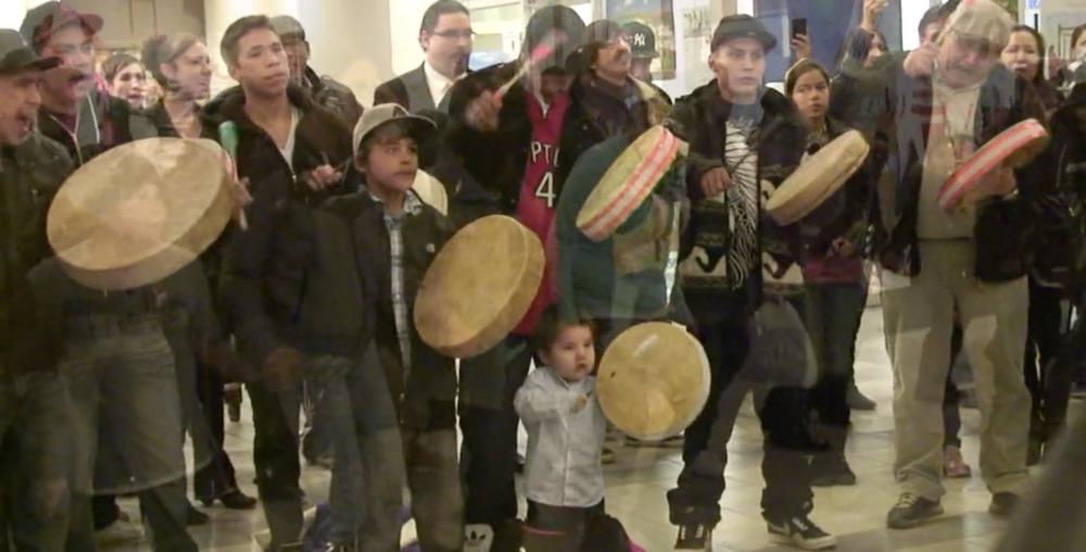 Idle No More Midtown Mall Saskatoon SK January 10, 2013