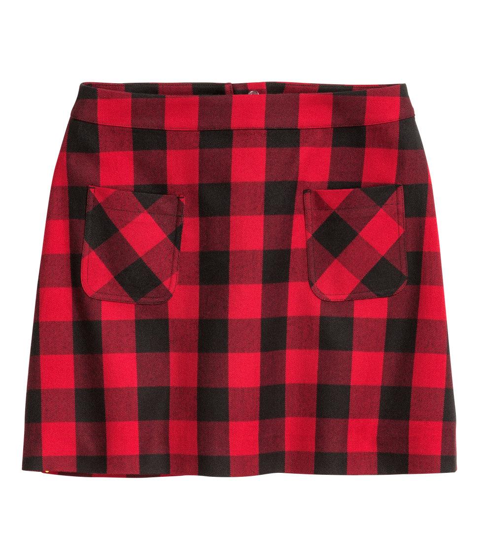 Shop H&M Plaid Skirt