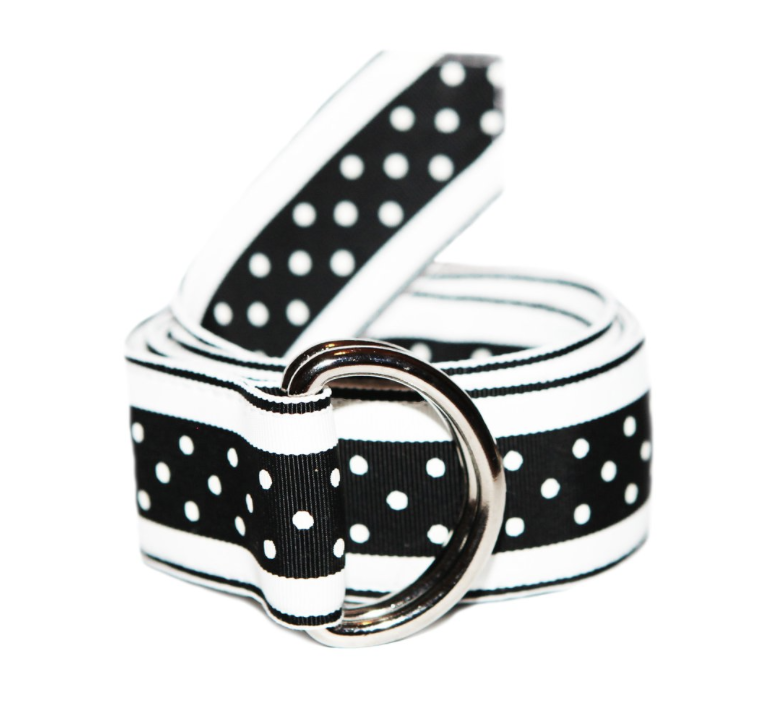 Shop Black Polka Dot Olivia Ribbon Belt