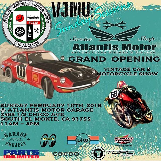 This Sunday we'll  be out and serving y'all some good ol' coffee at @atlantismotorgarage grand opening! Come by! ☕️⚡️