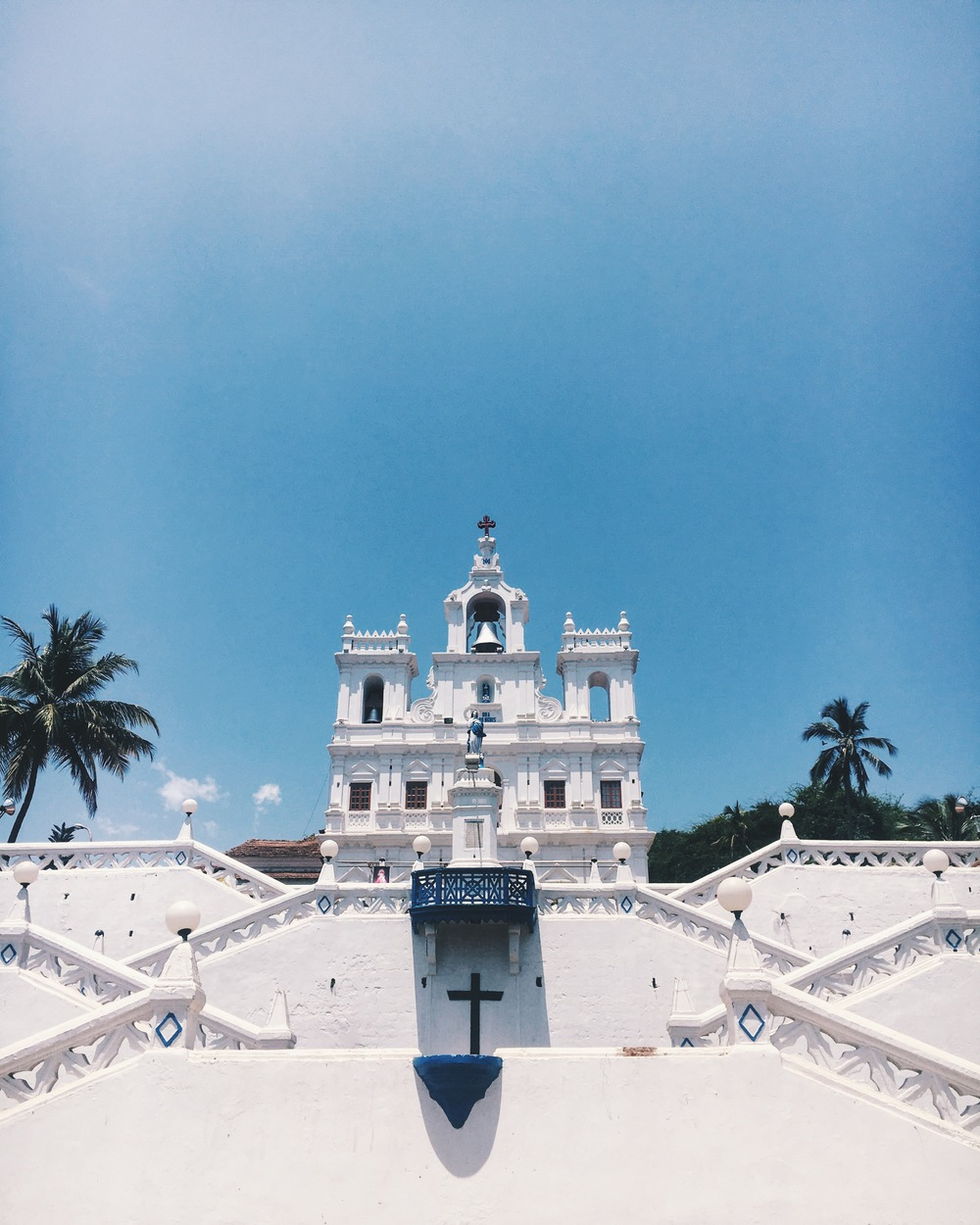 since goa was a Portuguese colony up until the 60's, it is largely christian. this is the famous church of our lady.
