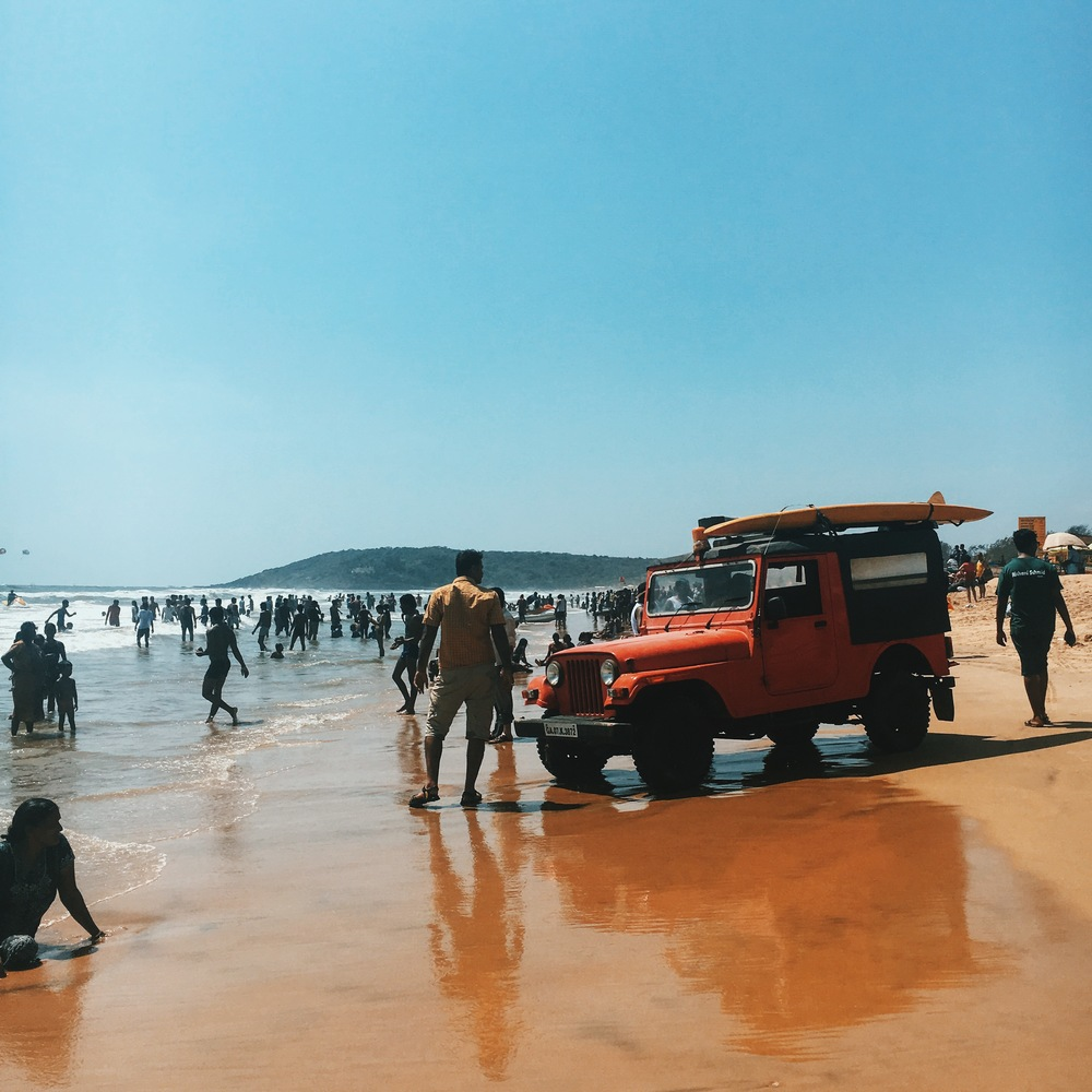 goa beaches are hugely crowded and so not what either of us were used to.