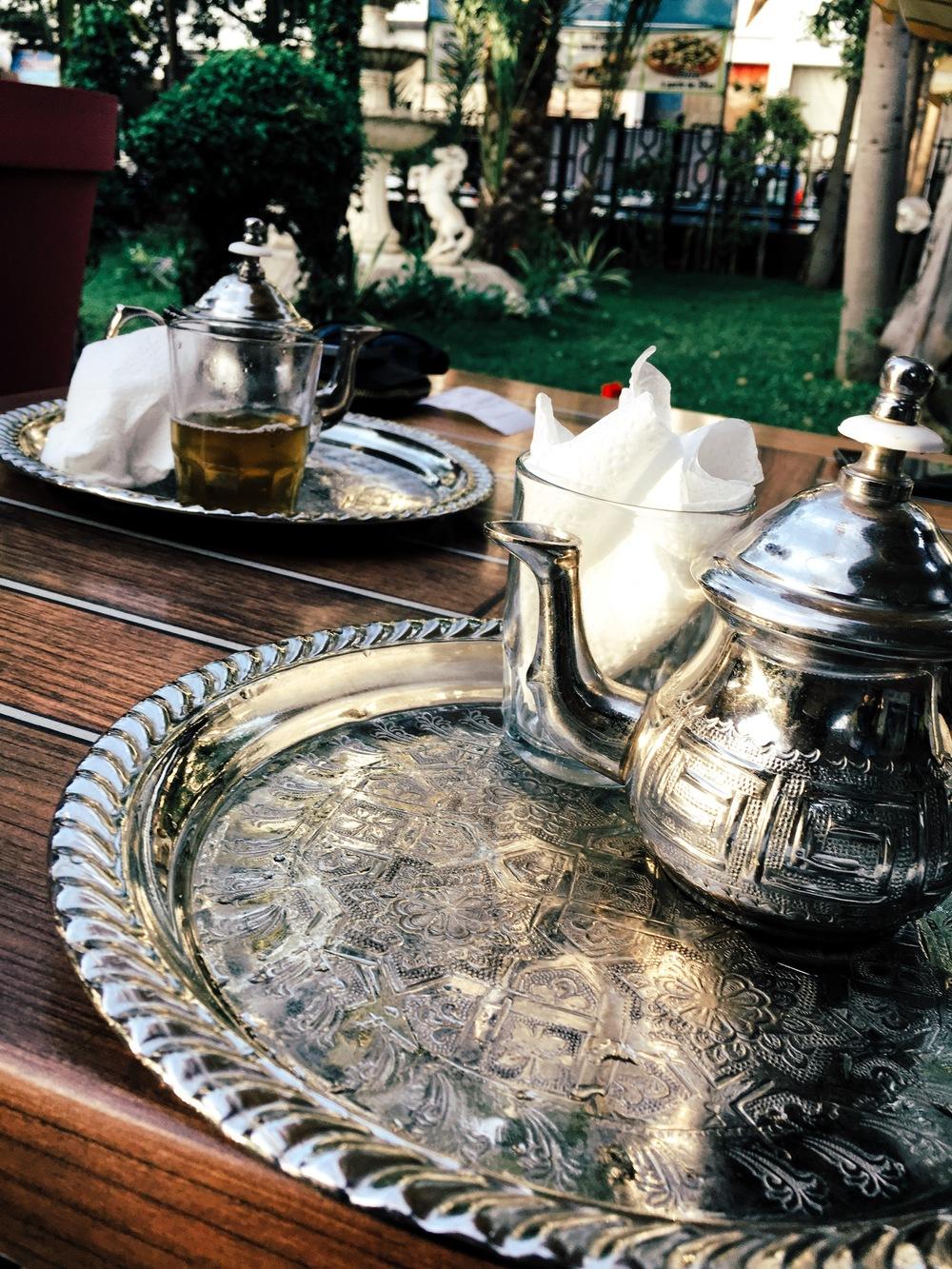 our ritual mint tea.. tastes as beautiful as it looks