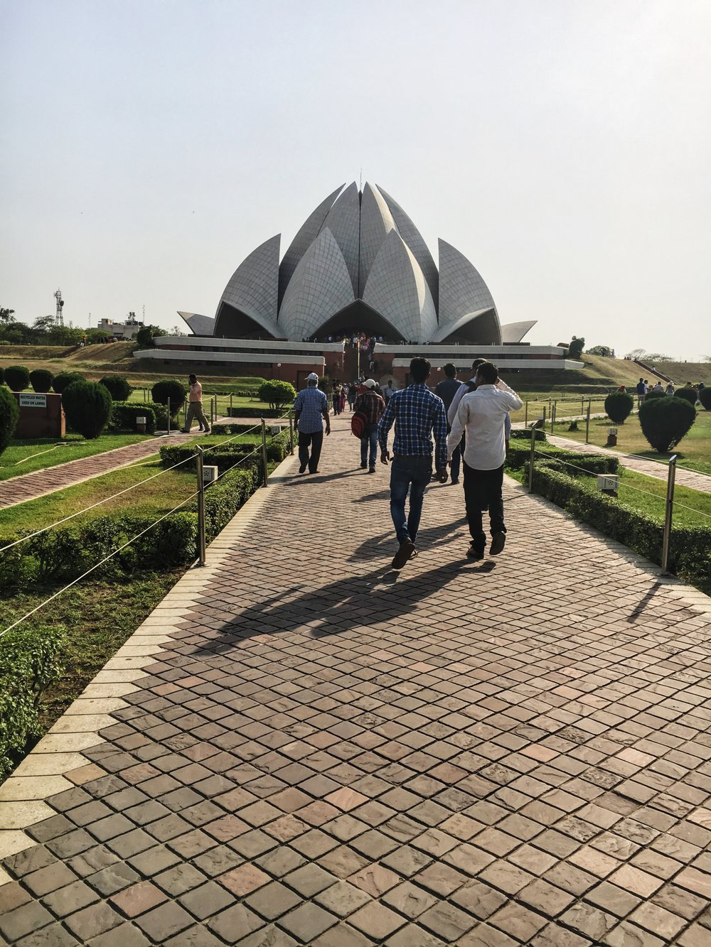 this is the Lotus Temple Grounds, which is actually what the Sydney opera house was modeled after. I wish I could have gotten a better picture, but it was so bright that I couldn't see my camera haha!