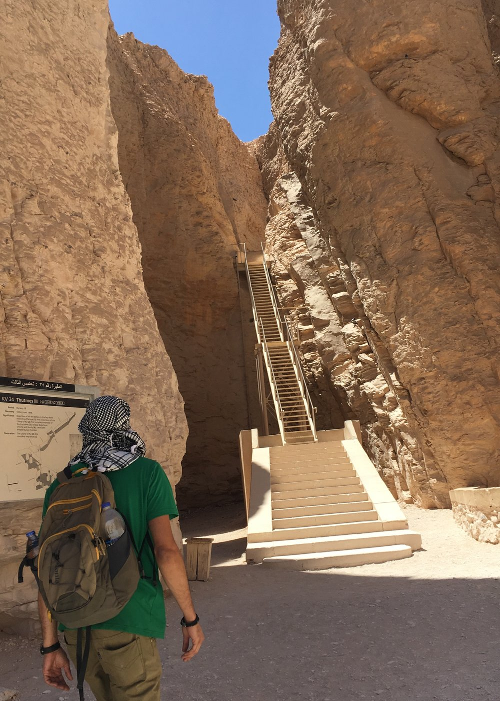 You'd climb stairs like these to the entrance. Inside is another series of steep stairs and ramps. It's a workout for sure- and Ahmed and Mohamed toted around our heavy bags through all of it!