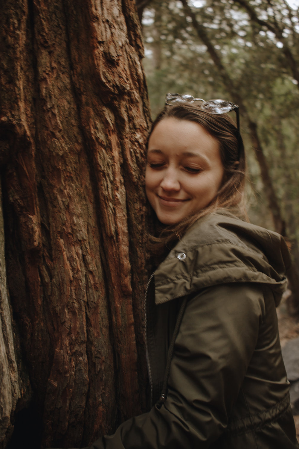 Rach, our resident tree hugger