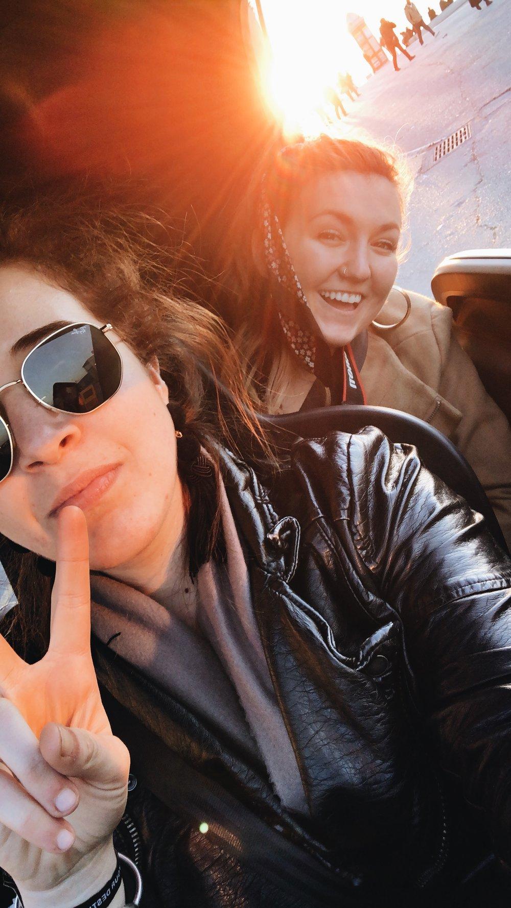 a car selfie for good measure