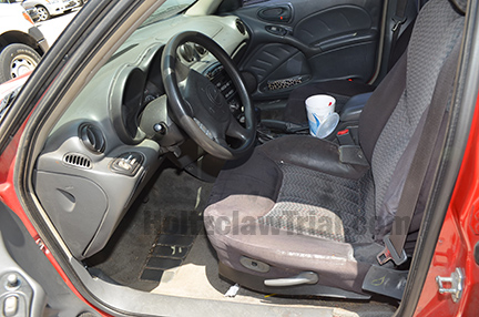 Interior of Jannie Ligons' vehicle.