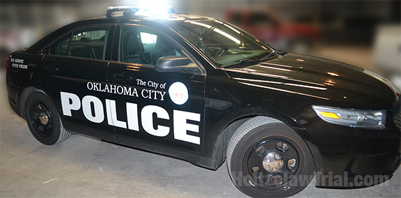 Holtzclaw's patrol car on the day of the Ligons traffic stop.