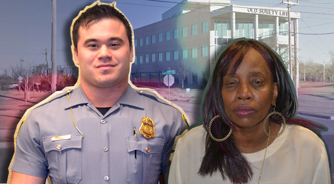 OKC Police Officer Daniel Holtzclaw and accuser Jannie Ligons.