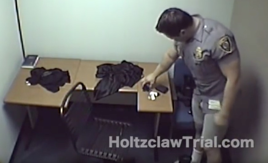Holtzclaw turning over his uniform but never being asked to hand over his underwear.