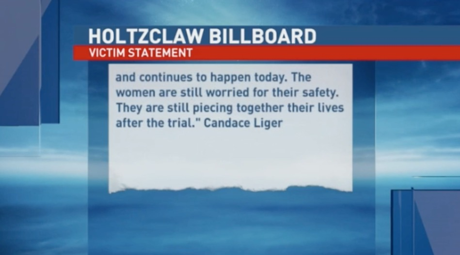 KOKH Fox25 falsely labeled this quote as a 'Victim Statement.' The statement clearly comes from Candace Liger who is an activist and was not speaking on behalf of any specific victim or accuser.