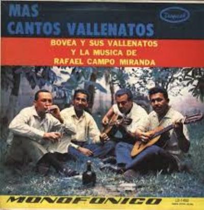 """Bovea y sus vallenatos. Intérpretes originales de """"Pájaro Amarillo"""""""