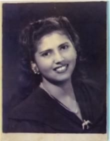 María del Socorro Vives Trespalacios, esposa del compositor y madre de sus hijos Rafael, Margarita y Martha Campo Vives.  (Archivo RCV)