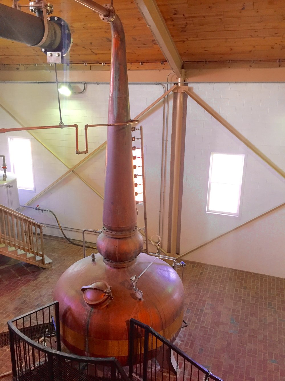 The copper still that was invented by the Willet's family.
