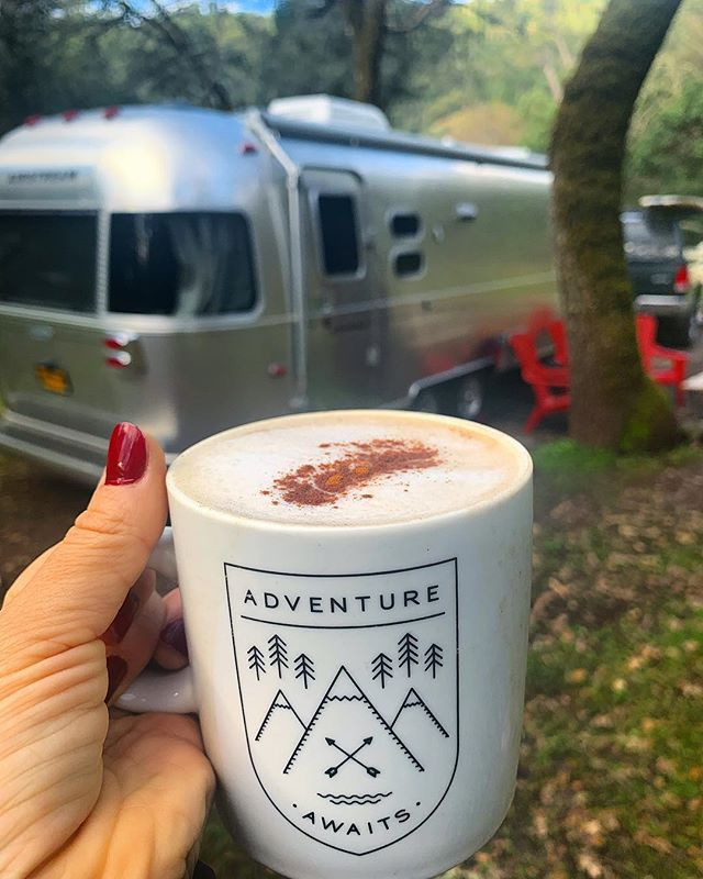 It's the first day of vacation and we're starting it off right. Slept in and with homemade latte in hand are planning our week in Northern Sonoma county. Yes, wine is most definitely on the agenda! 🍷 #livingdriven #airstream #airstreamlife #fulltimerv #liveriveted #myliverivetedlife #ditchingsuburbia #explore #goexploring #endlesscaravan #wanderlust #travel #adventure #adventureisoutthere #roadlife #roadtrip #photooftheday #instadaily  #livefreedomdriven #rovagram #homeiswhereyouparkit #campsite #gorving #findyouraway