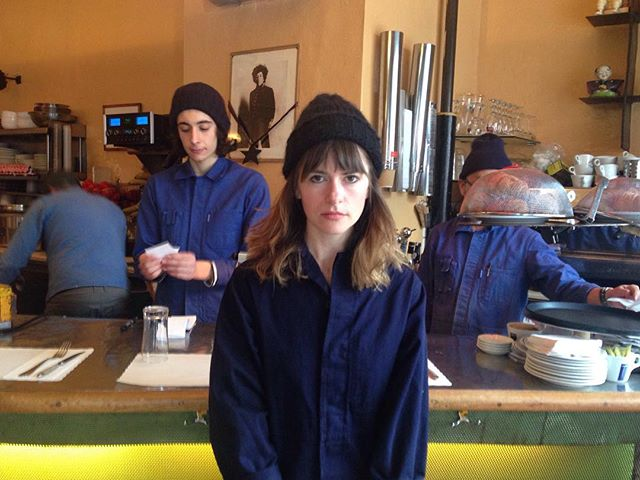 tfw you show up at your fav cafe #twinning w/ the kitchen crew