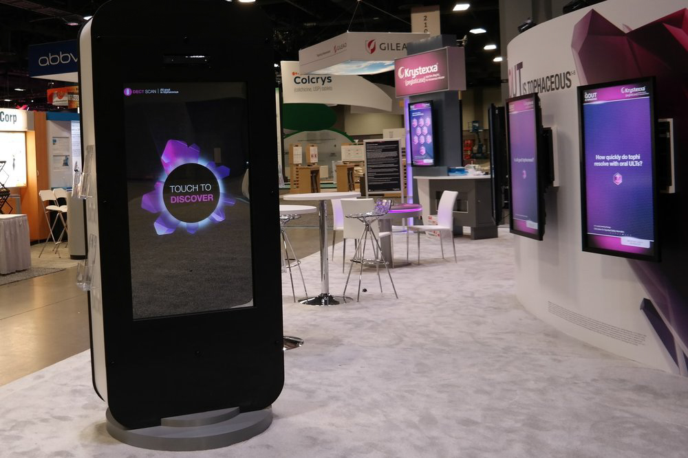 Interactive mirror at Krystexxa trade show exhibit for American College of Rheumatology's Annual Meeting