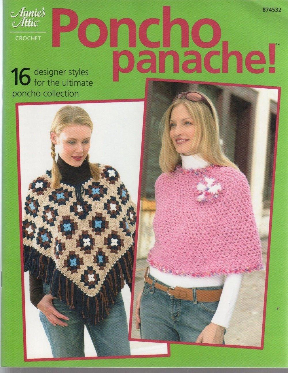 Poncho Panache 16 Different Patterns To Crochet Fiber To Yarn