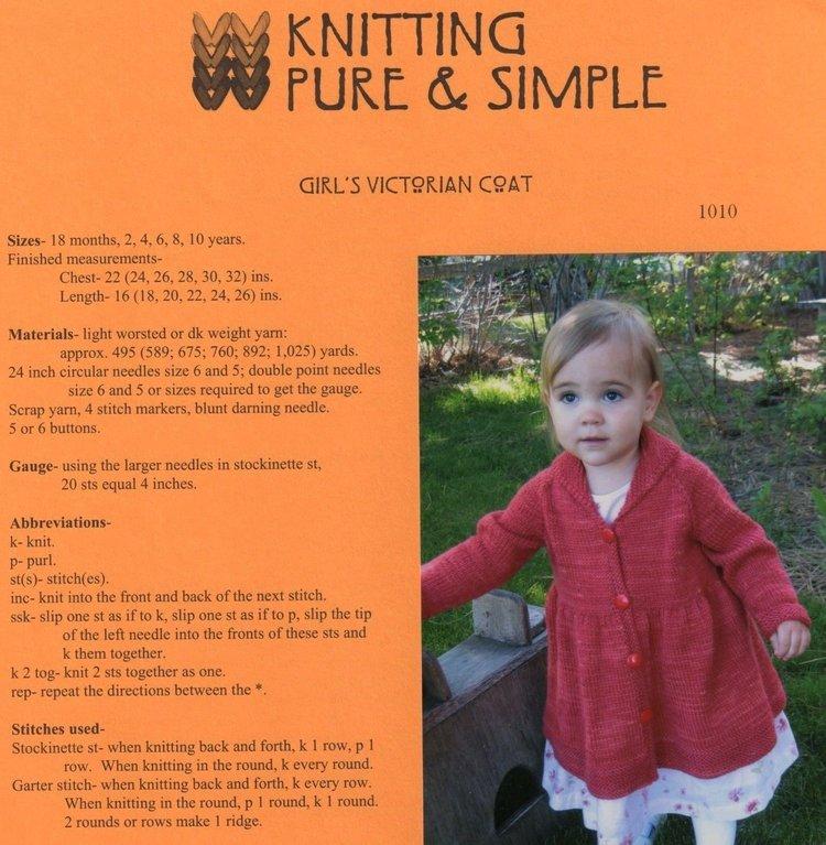 Knitting Pure Simple Children Patterns Fiber To Yarn