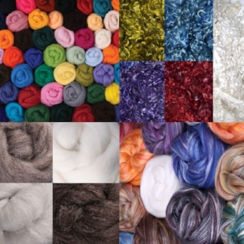 Fibers to Dye, Spin or Felt