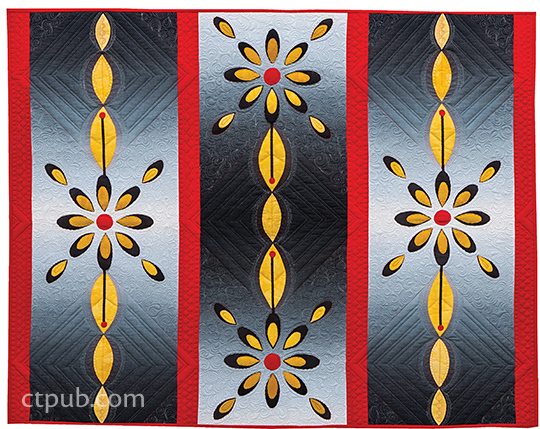 Appliquilting applique quilt at the same time by gina perkes