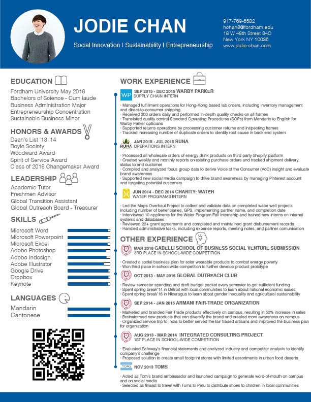 Resume — Jodie Chan