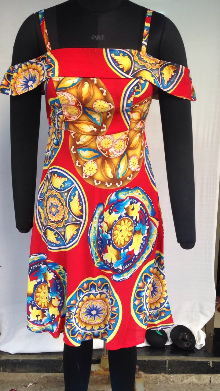 'MEDUSA' DATE DRESS  - A Versace Medusa print transforms the Valentine Dating Week more Chic with an Off-Shoulder Evening Dress made in the finest Crepe Fabric. Date away in this dress. W - 479 Evening Dress Fabric  - Crepe in Medusa Print Design Detail - Off Shoulder with Spaghetti-esque straps. PRICE INR 3190  | USD 40 | EUROS 45