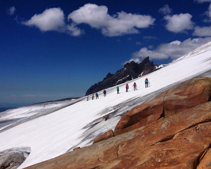 The 2015 Cascades team scaling Mt. Baker