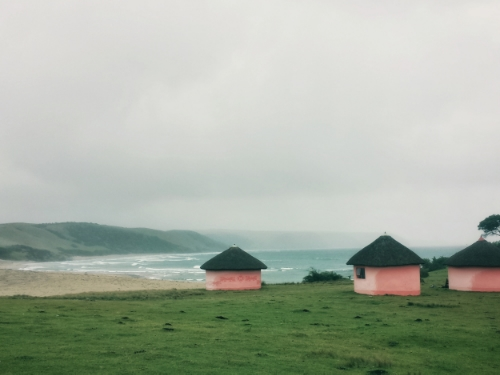 Pink Huts in Bulungula