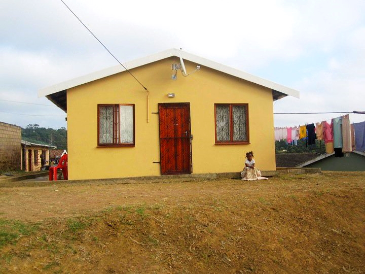 One of the houses in the township.