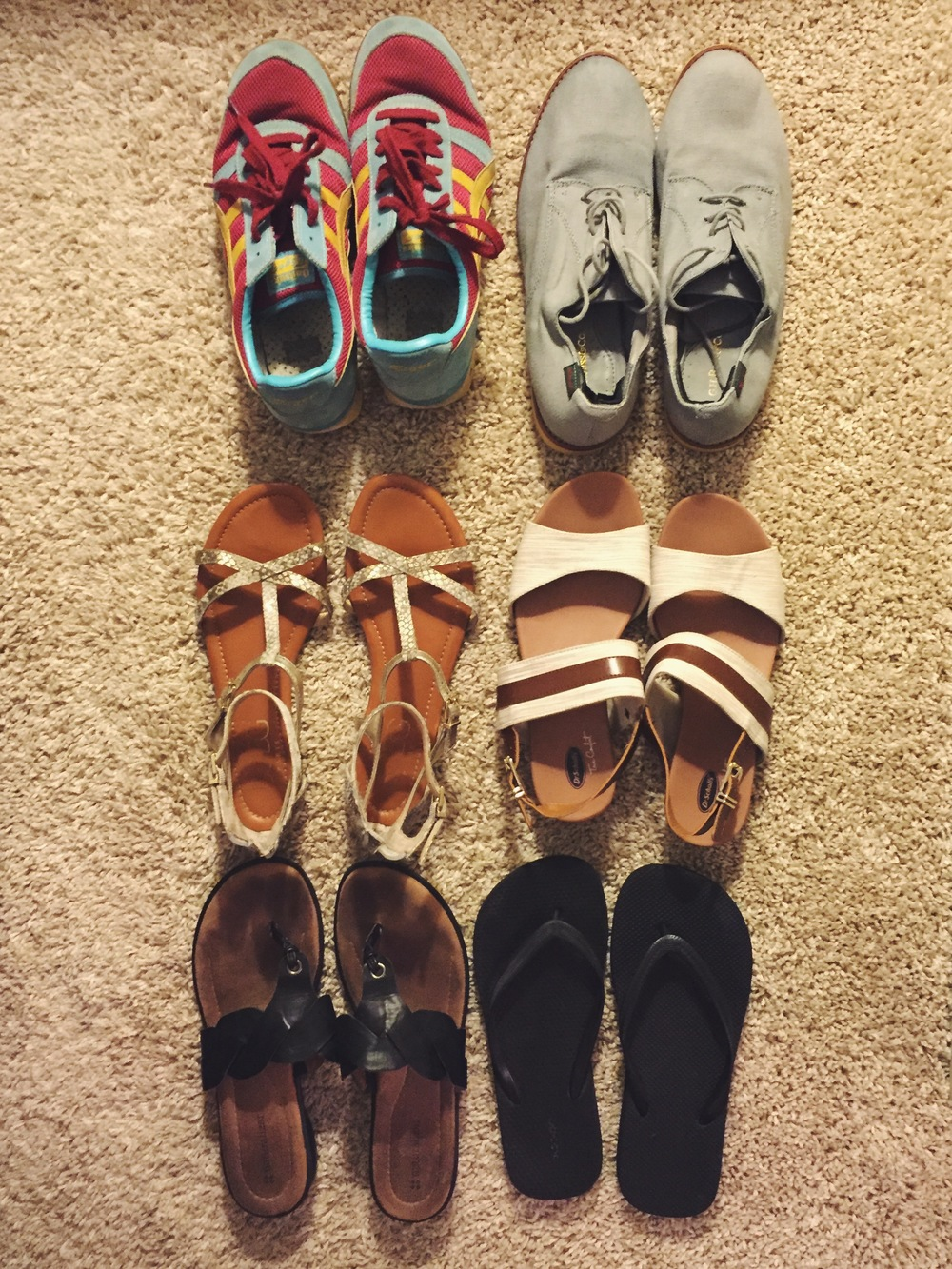 Footwear for a 2-week Summer Vacation in Europe
