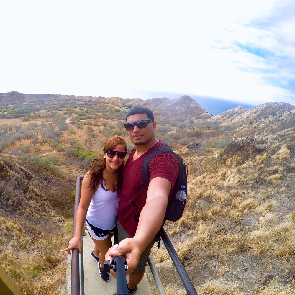Hiking up Diamond Head  in Hawaii!