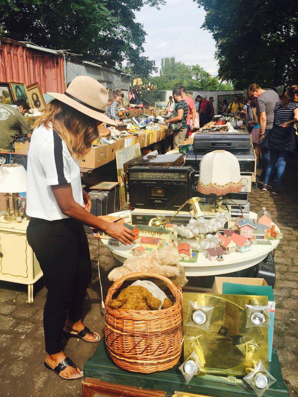 Visit Mauerpark's Sunday flea market.