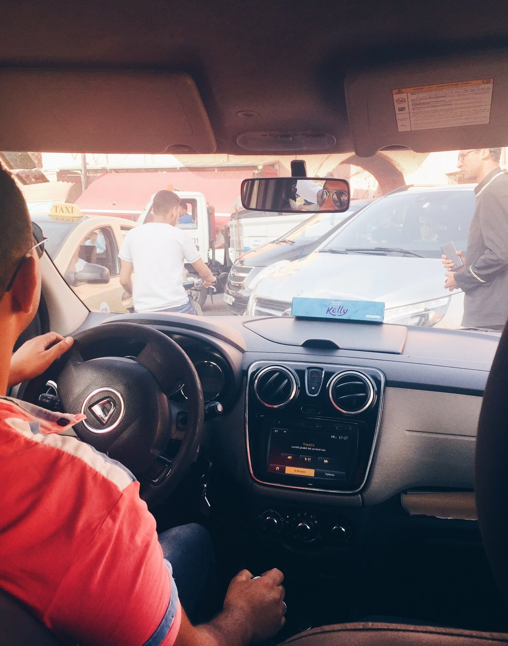 Driving through the busy streets of Marrakech and listening to Berber music felt like a dream (partially because I was exhausted from the commute :-))